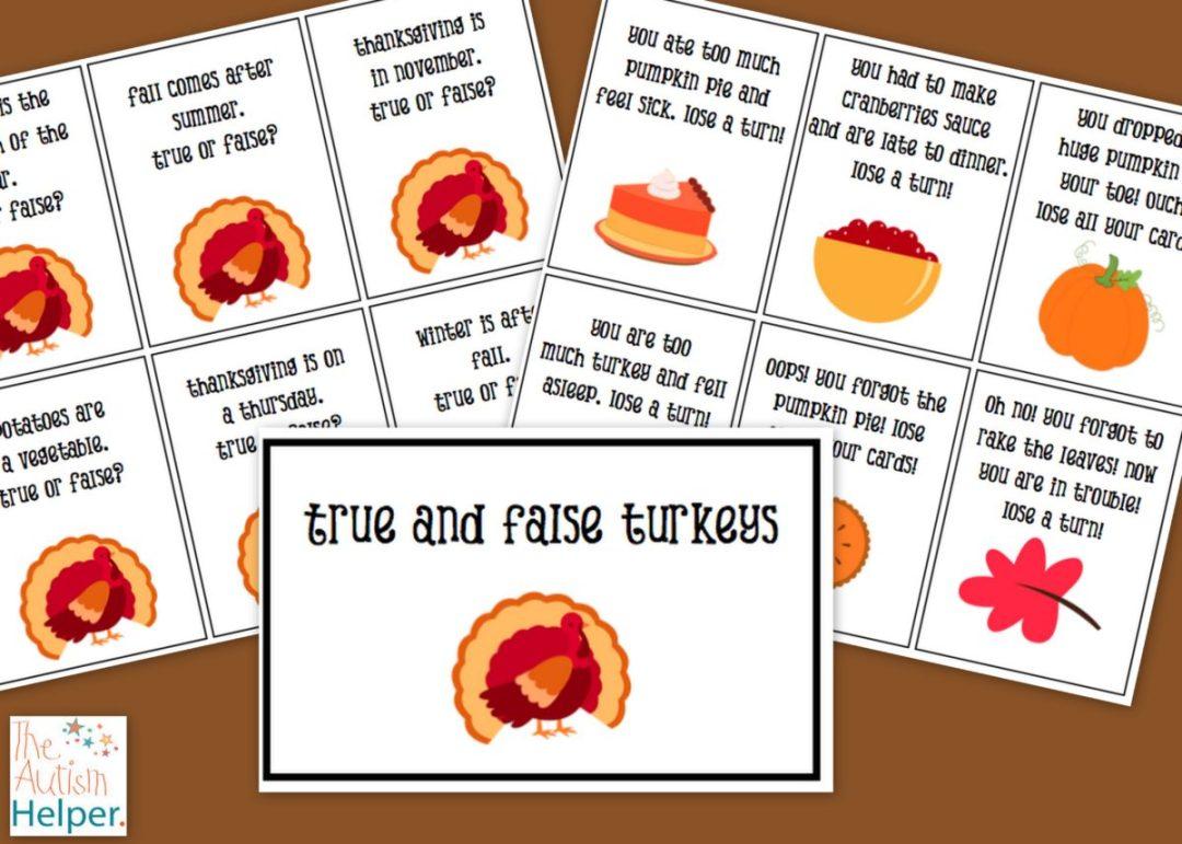 The Autism Helper True and False Turkey