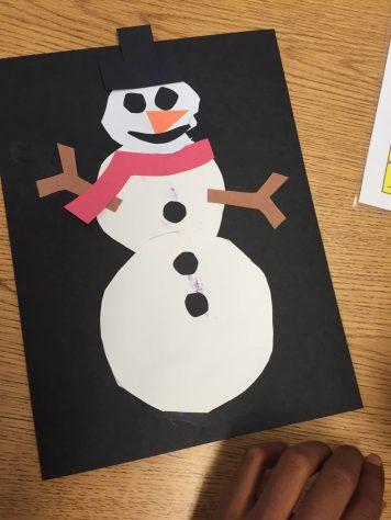 Finished Snowman Craft