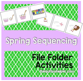 Spring Sequencing File Folder Activities
