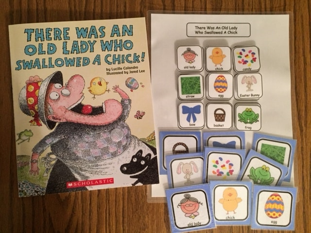 Old Lady Chick Book Set Up