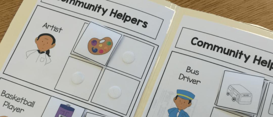 Community Helper File Folder Activities
