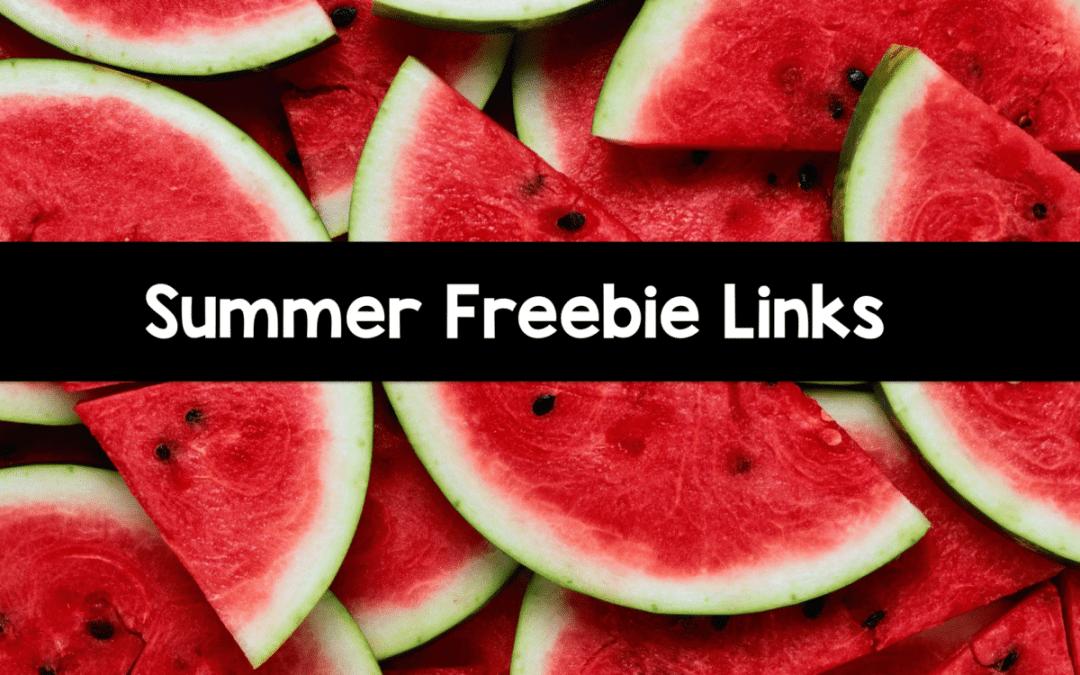 Summer Freebie Links