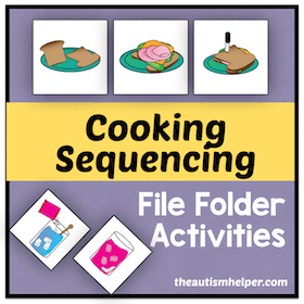 Cooking Sequencing File Folder Activities
