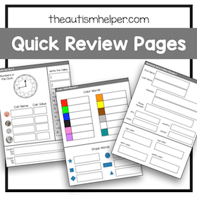 Quick Review Pages