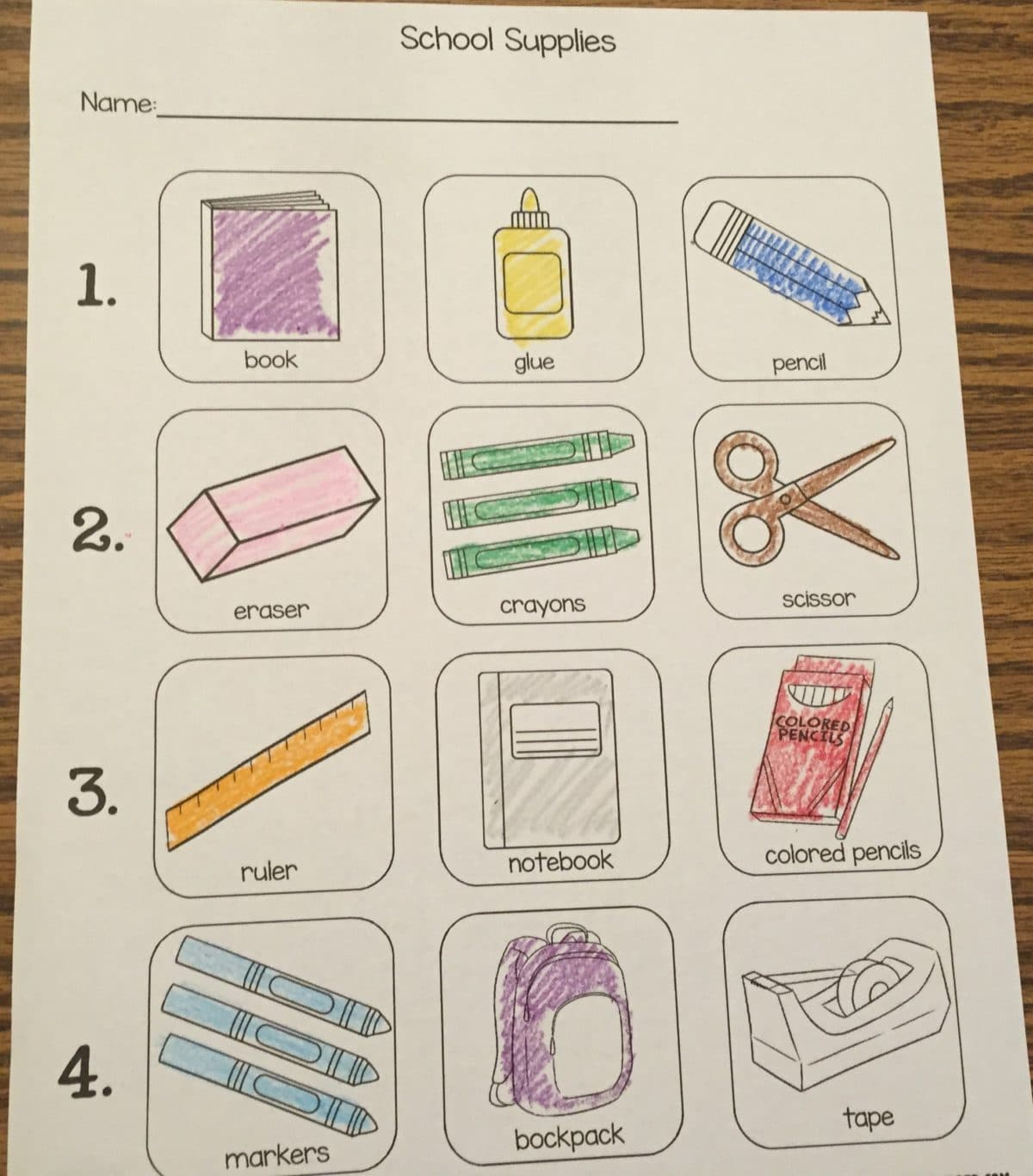 More School Supply Themed Activities With Free Handout