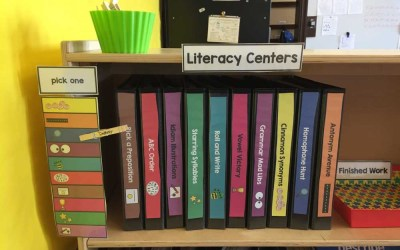Literacy, Math, and Writing Centers {why I'm OBSESSED with these}