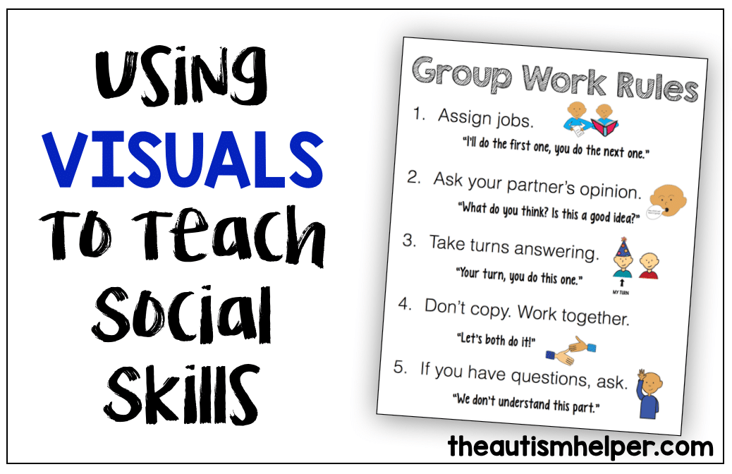Using Visuals When Teaching Social Skills