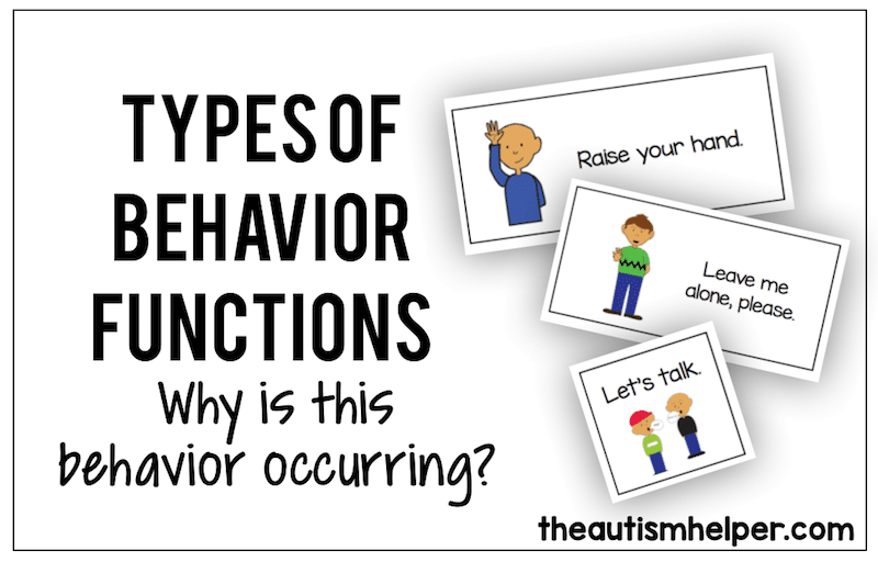 Types of Behavior Function {Why is that behavior occurring?}