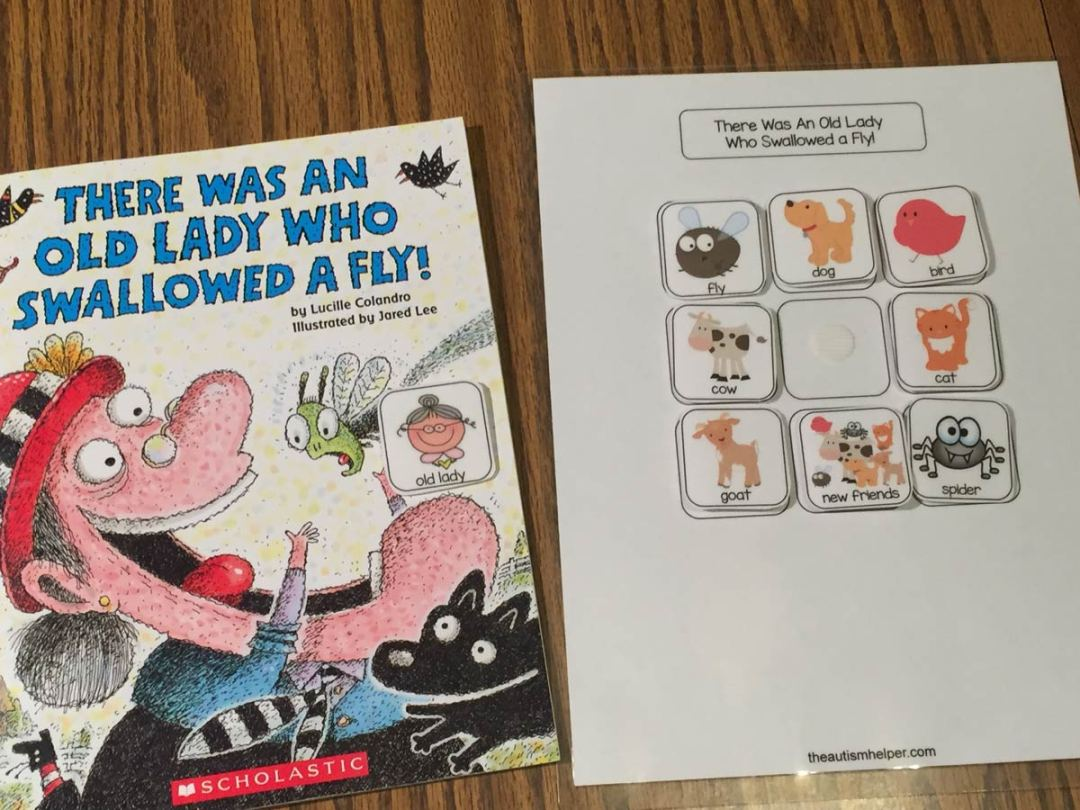 there was an old lady who swallowed a fly the autism helper