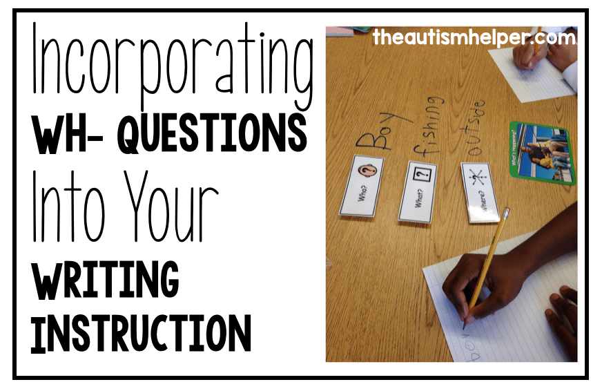 Incorporating Wh- Questions Into Your Writing Instruction