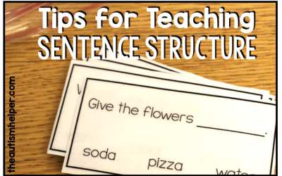 Tips for Teaching Sentence Structure