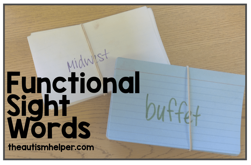Functional Sight Words