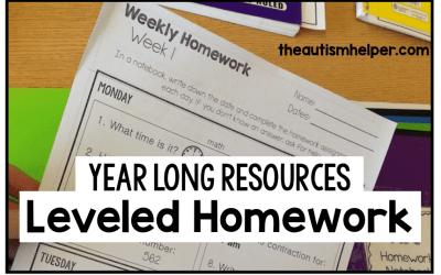 Leveled Daily Homework