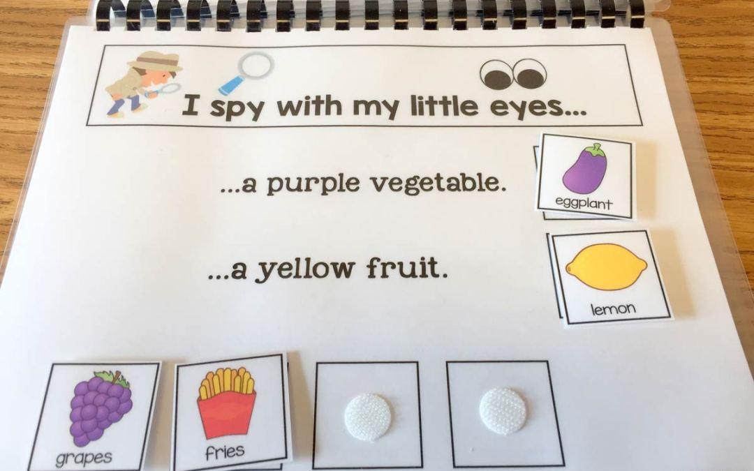 I Spy Fruit and Veggie Books!!!!