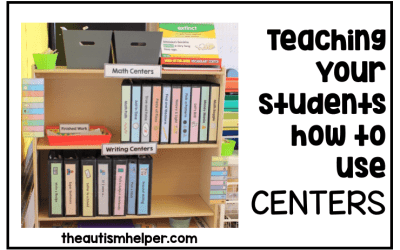 Teaching Your Students How to Use Centers