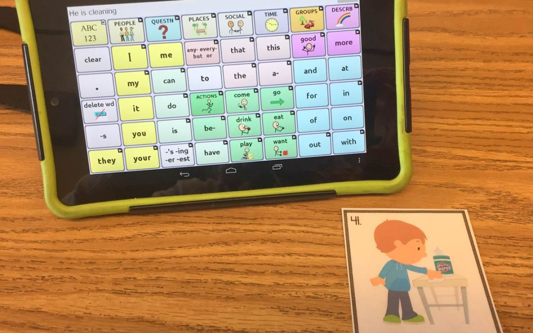 Using AAC with Task Cards!