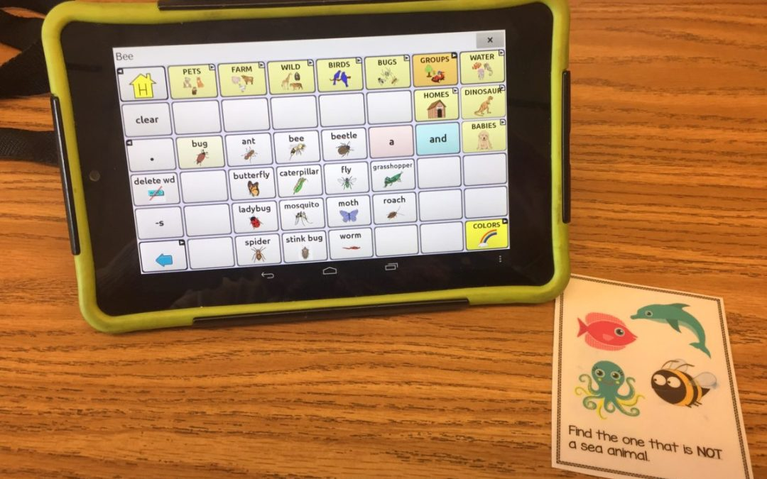 Tips for Using AAC with Task Cards