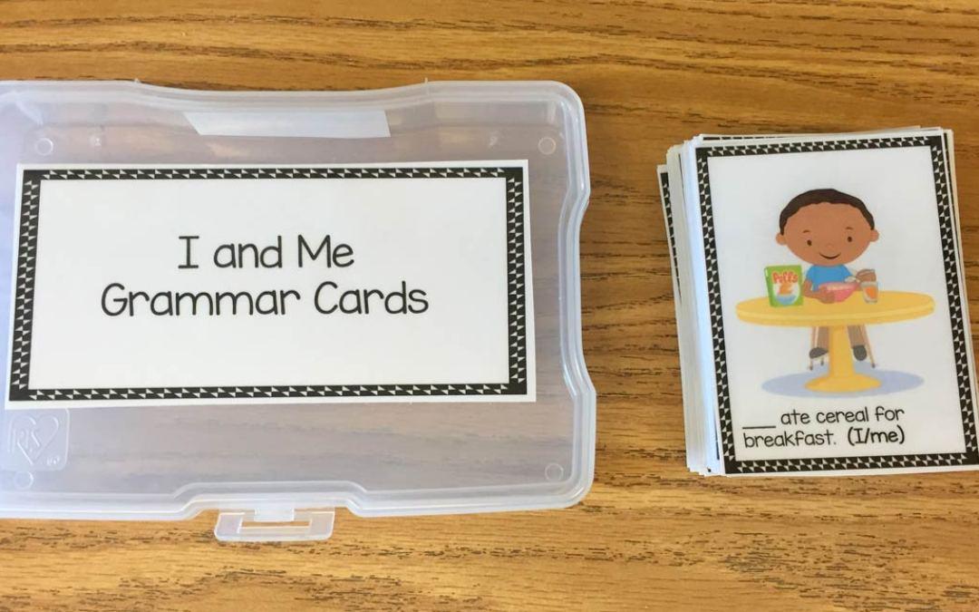 "Using ""I"" or ""Me"" Grammar Task Cards"