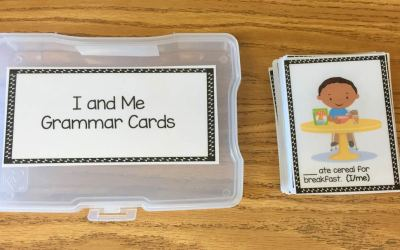 "Using ""I"" or ""Me"" Grammar Task Cards"