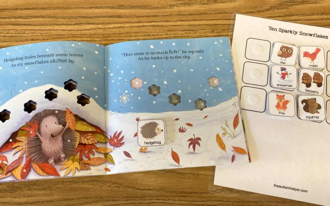 Ten Sparkly Snowflakes Free Book Visuals