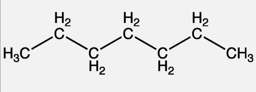 Химическая формула n-гептана