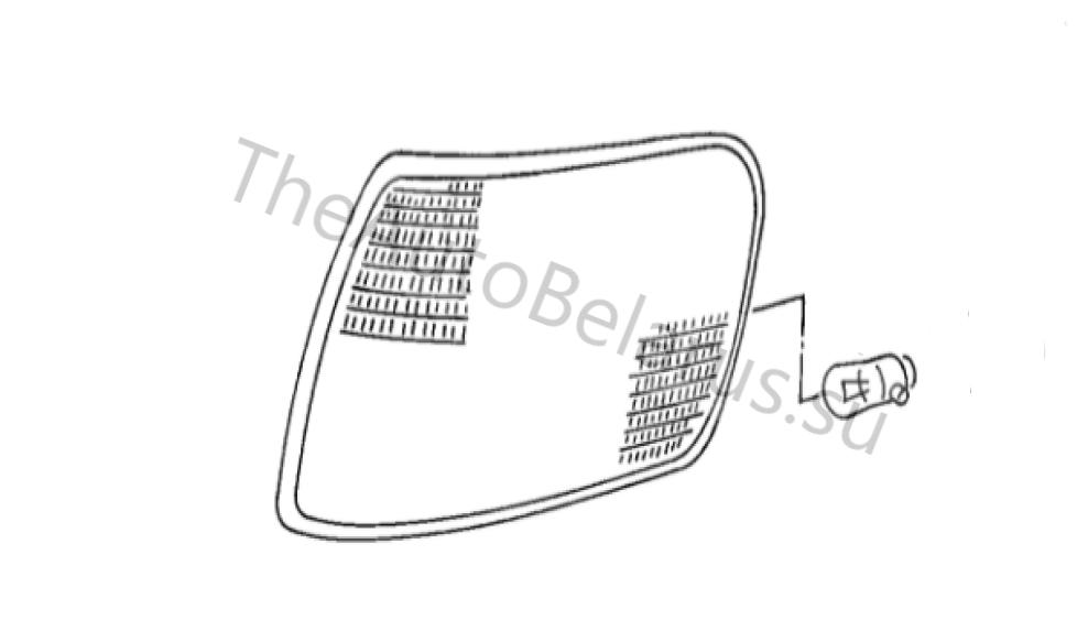 Схема расположения лампочки в поворотнике Ауди А6 С4