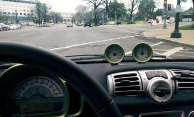 electric car dashboard