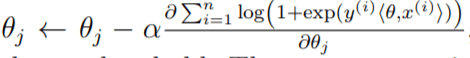 logistic regression update formula