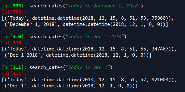 2 packages for extracting dates from a string of text in Python