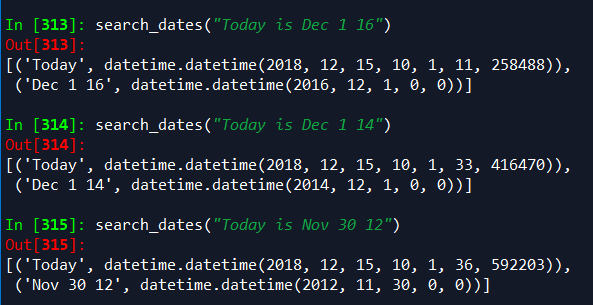 2 packages for extracting dates from a string of text in