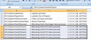 FTVME Edit Alarm Messages in MSExcel Step 5
