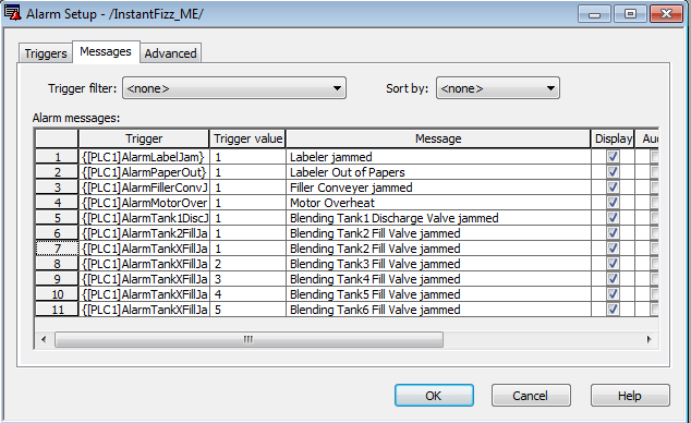 FTVME Edit Alarm Messages in MSExcel Step 7
