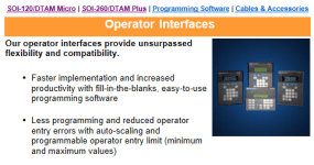 DTAM Plus and DTAM Micro product page at Spectrum Controls