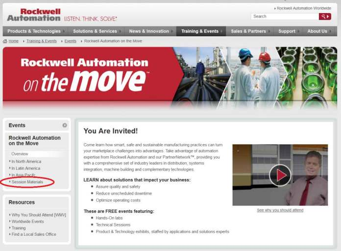 Rockwell Automation On The Move Homepage