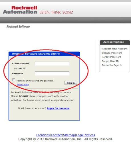 Rockwell Software Extranet Login