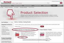 AB.com Product Selection Homepage