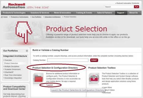 AB.com Product Selection Homepage