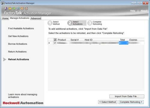 FactoryTalk Activation Moving aka Rehosting Step 5