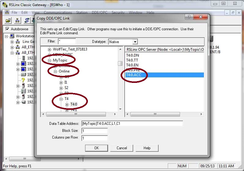 Getting Allen-Bradley PLC and PAC data into Excel using RSLinx