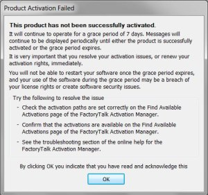Rockwell Software Grace Period Mode Popup 1