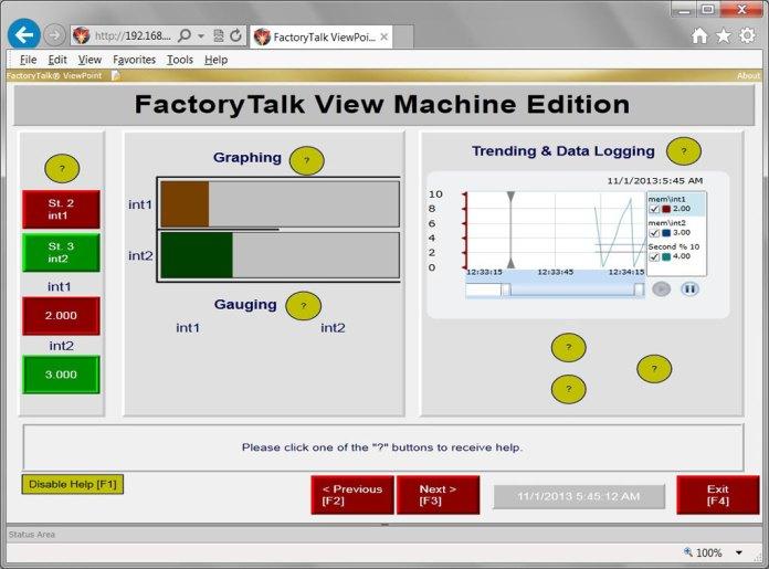 FactoryTalk ViewPoint In Internet Explorer