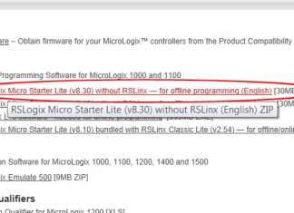 Download free programming software for MicroLogix 4