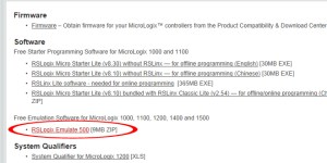 Download free programming software for MicroLogix 8