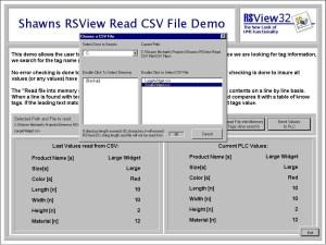 RSView32 Read CSV File Demo