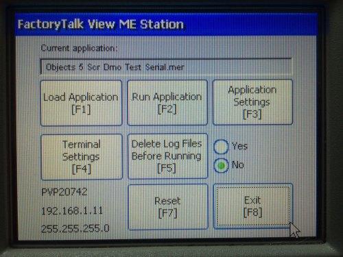 PanelView Plus 6 600 Configuration Mode