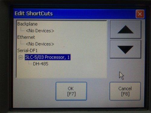 PanelView Plus Shortcut Config