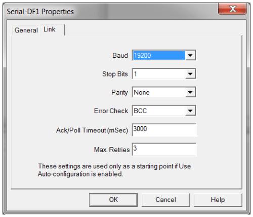 RSLinx Enterprise Add DF1 Serial Tab 2