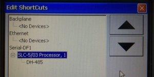 PanelView Plus Edit Shortcuts