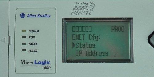 MicroLogix-1400-LCD-ENETcfg-Menu-Status-Sel