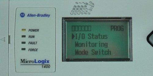 MicroLogix-1400-LCD-Main-Menu-Status-Sel